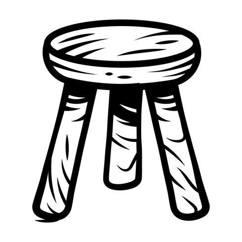 Ilustração de mobília de assento de cadeira de fezes