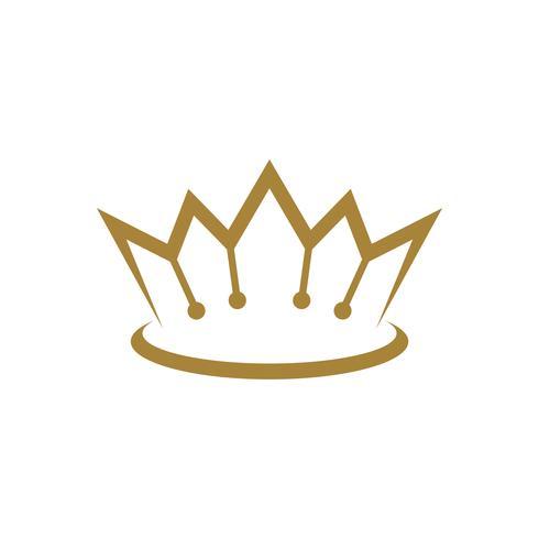 Gold Royal Crown Logo Template Illustration Design. Vector EPS 10.