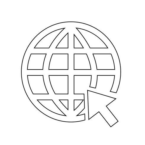 Ir a la página web internet icono vector illustration
