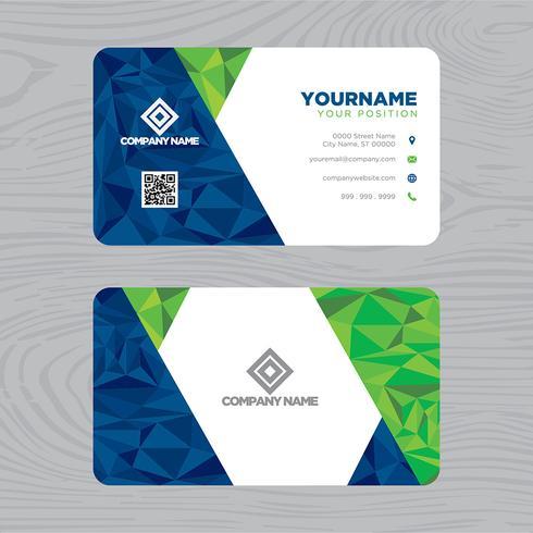 Groenachtig blauw visitekaartje