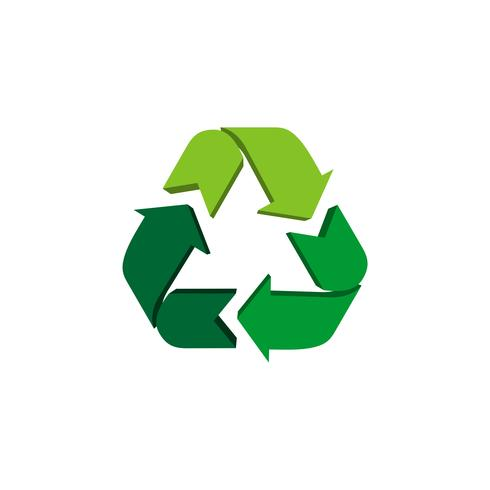 Recycle Icon Vector Logo Template Illustration Design. Vector EPS 10.