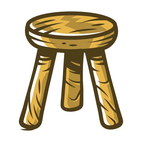 Silla taburete asientos muebles ilustración
