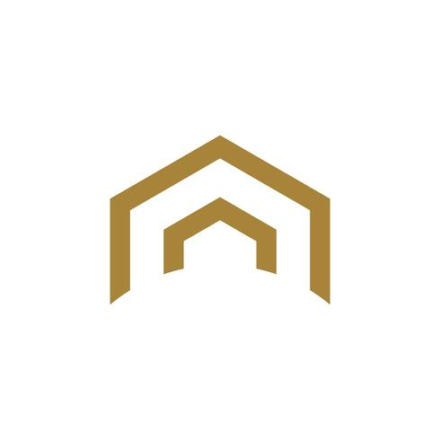 Abstract Roof Architecture Logo Illustration Design. Vector EPS 10.