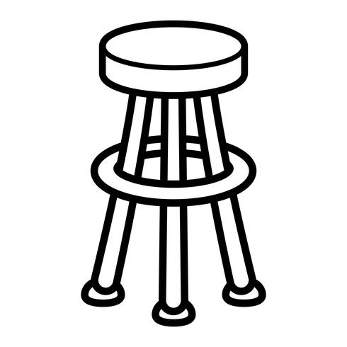 Tabouret Chaise Seating Furniture Illustration