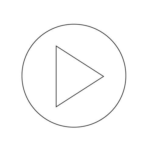 jugar botón icono ilustración vectorial