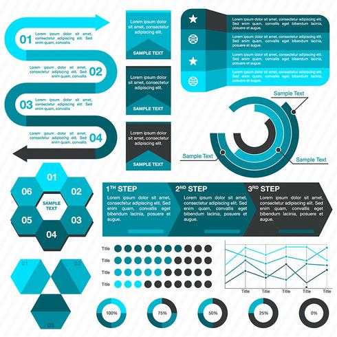 Färgglada företagsinfographics