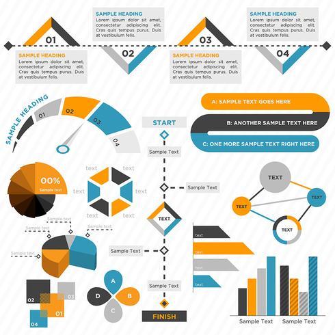 Infografía de negocios colorido