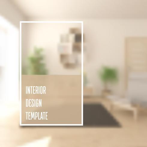 Inredning design broschyr mall vektor
