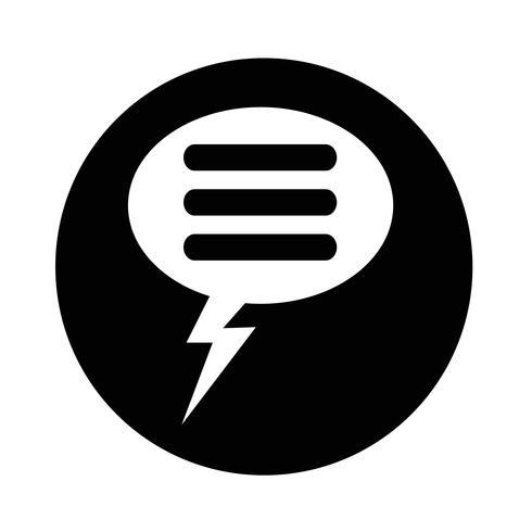 Icono de burbuja del discurso