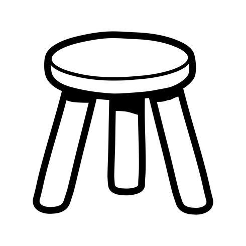 Kruk stoel zitmeubelen illustratie