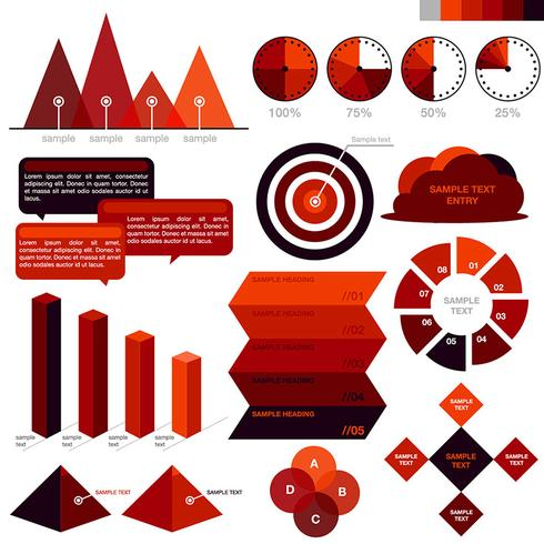 Colorful Red Business Infographics