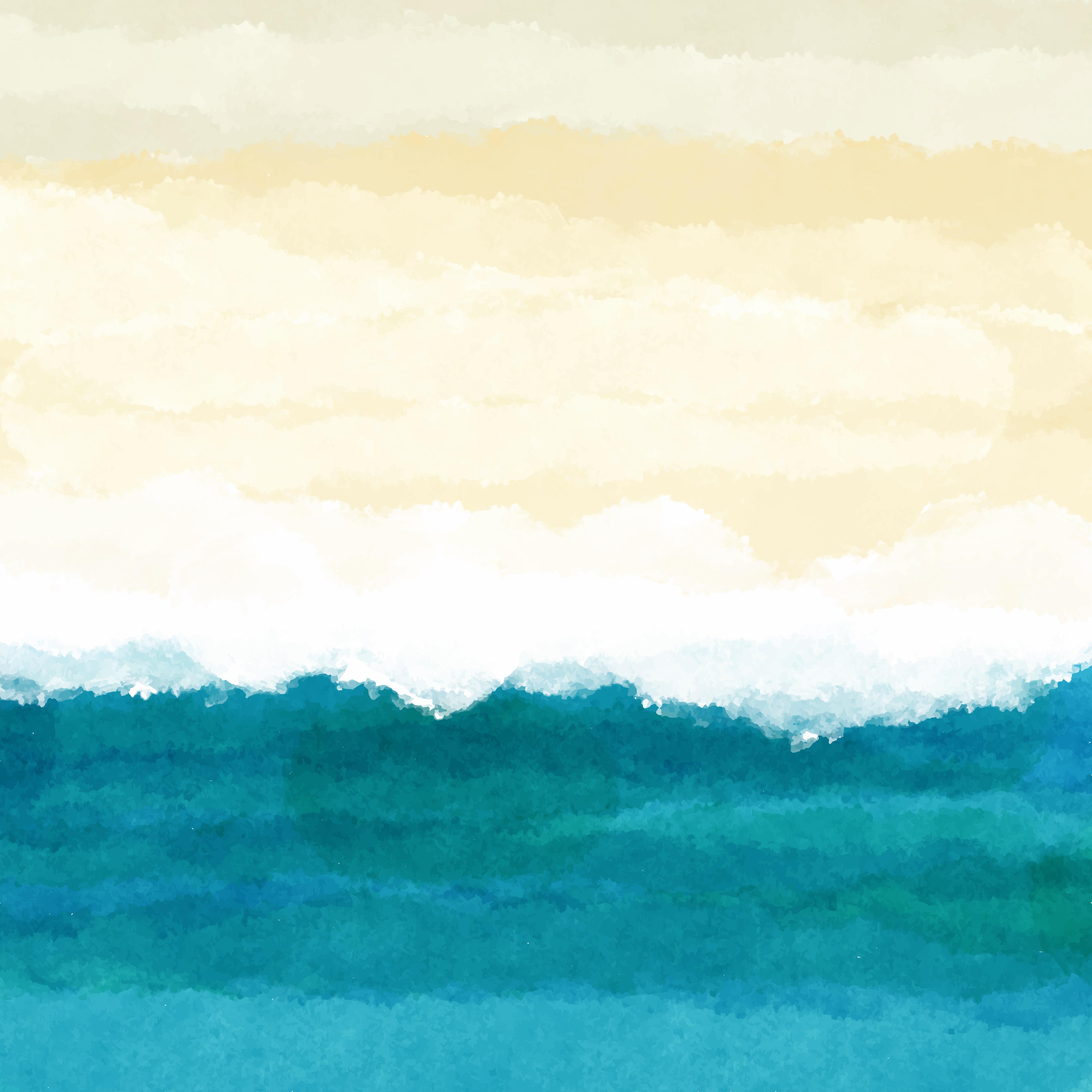 Watercolour Beach Scene Free