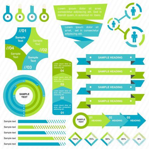 Colorido negocio infografía activos