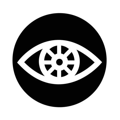 Sinal do ícone do olho