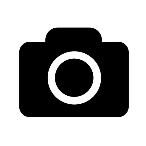 Camera pictogram vectorillustratie