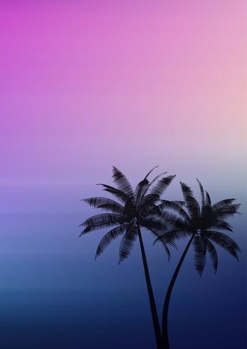 Palmer på en gradient bakgrund