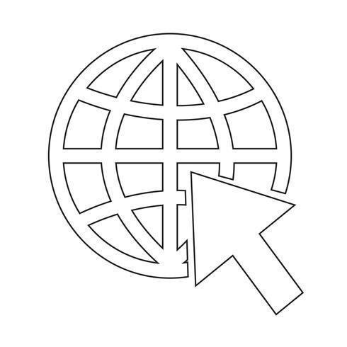 Gå till hemsidan Internet ikon vektor illustration