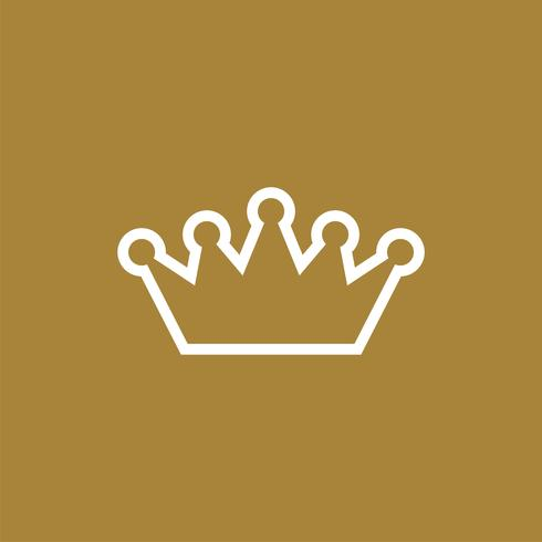 Corona elegante Logo plantilla ilustración diseño. Vector EPS 10.
