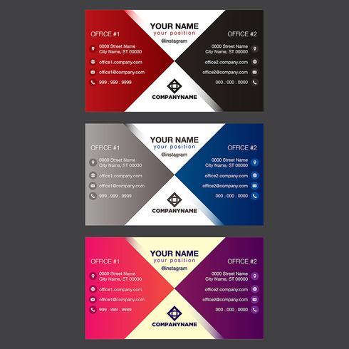 Colección colorida de la tarjeta de visita