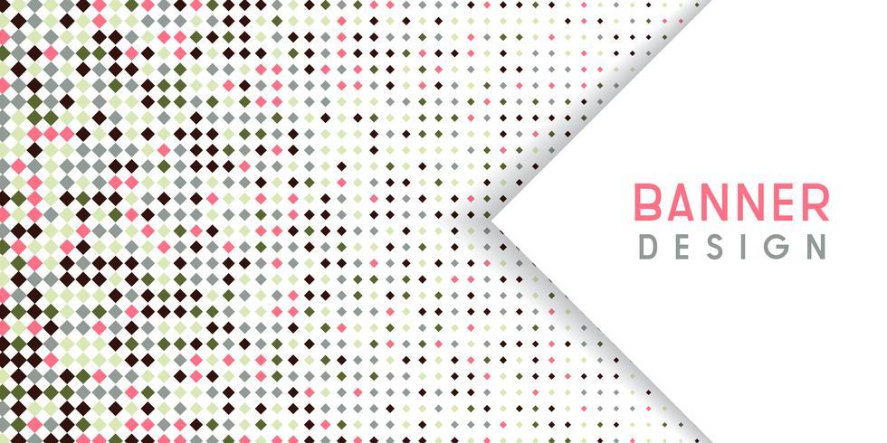 Abstrakt banderoll bakgrund med diamant halvton design