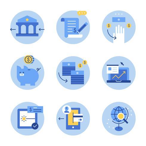 blå affärstillgång illustration.