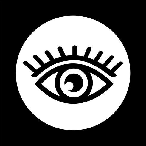 Sinal do ícone do olho vetor