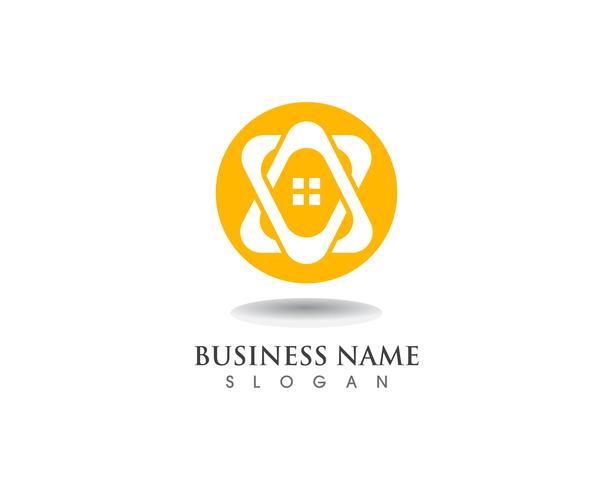 Lar doce lar logotipo e símbolo vector