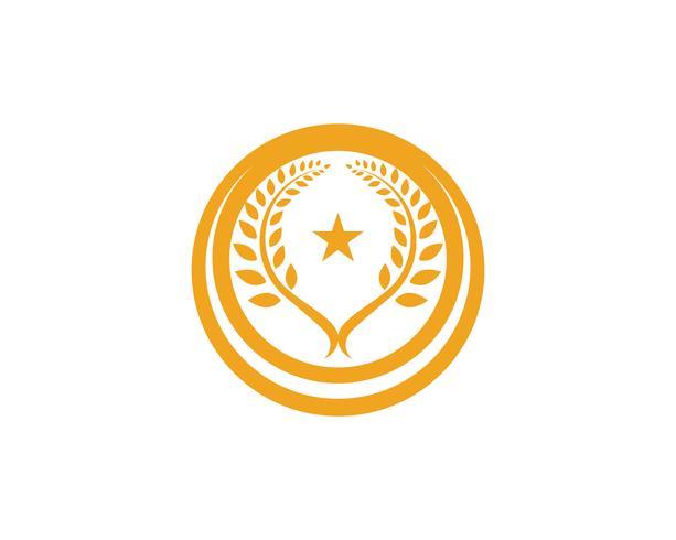 Modello di logo del grano di agricoltura, progettazione sana dell'icona di vettore di logo di vita