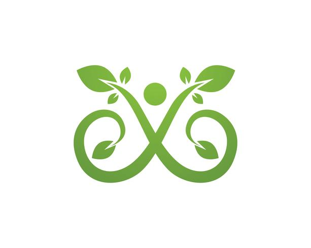 Infinity people Adoption and community care Logo template vector icon
