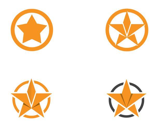Ontwerp van de het pictogramillustratie van het sterembleem het vectorontwerp vector
