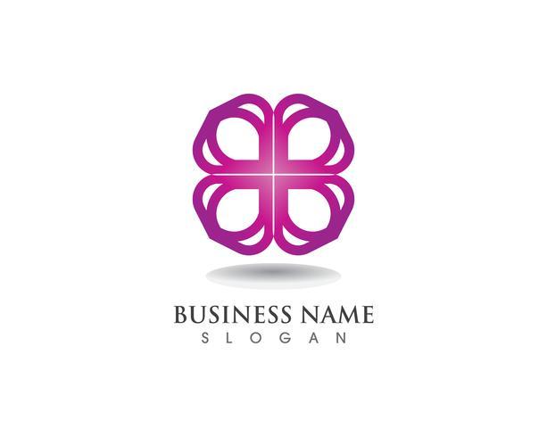 bloemmotieven logo en symbolen vector