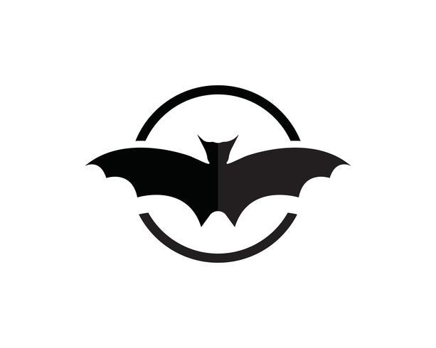 Plantilla de logo y símbolos de murciélago vector