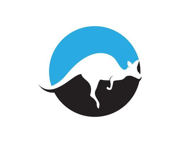 Kangaroo jump animal logo and symbols