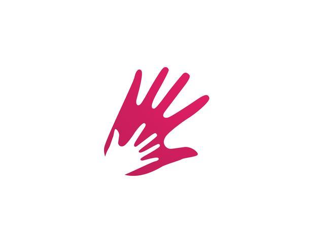 Mão, equipe, amigos, comunidade, logotipo, e, símbolos