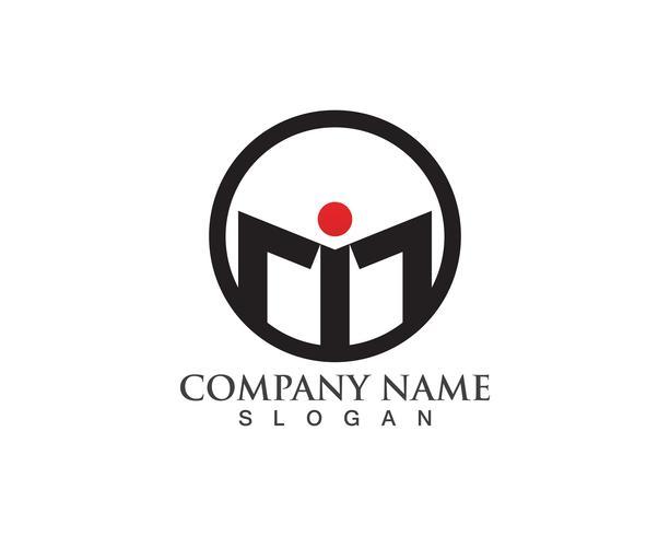vesting logo en symbolen vector