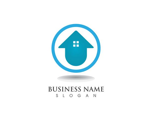 Home sweet home logo and symbol vector