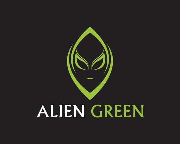 Alien gezicht pictogram vector logo en symbolen sjabloon app