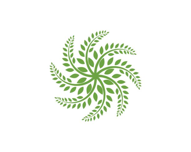 leaf ecology nature element vector icon