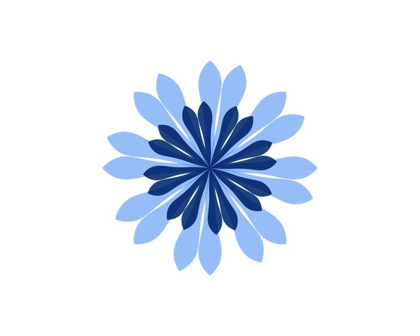 Jasmijn bloem pictogram vector illustratie ontwerpsjabloon logo