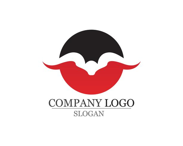 Icone del modello di logo e simboli del corno di toro app