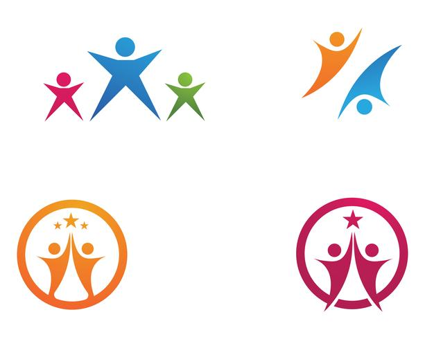 leadership success people health life logo template icons vector
