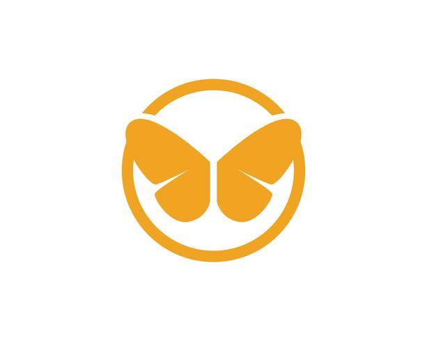 Mariposa conceptual simple, colorido icono ilustración vectorial vector
