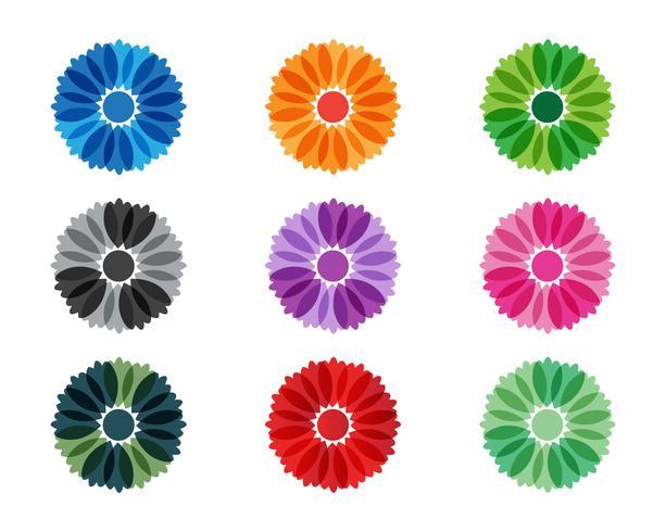 Modello di logo di progettazione dell'illustrazione di vettore dell'icona del fiore del gelsomino