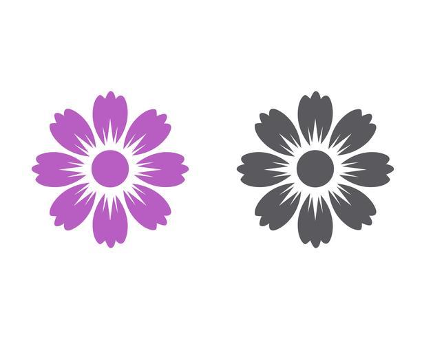 Plantilla del logotipo del diseño del ejemplo del vector del icono de la flor del jazmín