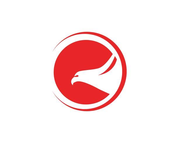 Águila alas alas signo abstracto plantilla iconos aplicación