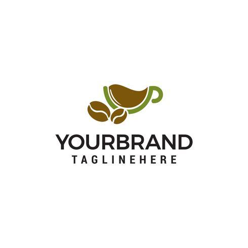coffee herbal logo design concept template vector