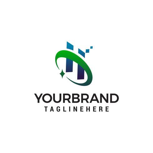 lettre h technologie logo design concept template vecteur