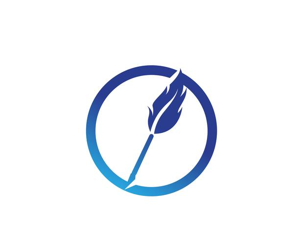 Pluma pluma escribir signo logo plantilla aplicación iconos vector
