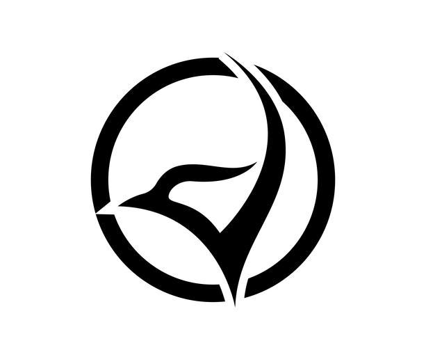 Wings Vogel Zeichen abstrakte Vorlage Symbole App