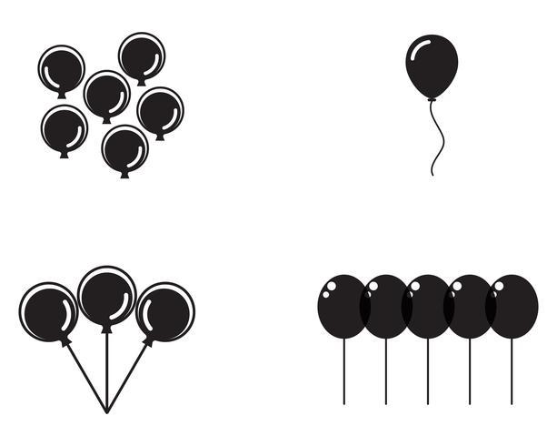 Festliche Ballone des Fliegenvektors, die mit glatten Ballonen für Feiertag glänzend sind